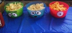 Yo Gabba Gabba Bowl Deco  #yo #gabba #gabba #yogabbagabba #nickjr #nick #junior #jr #nickelodeon #birthday #party #bowl #buffet #food