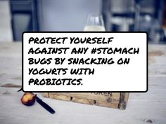 #Protect yourself against any #stomach bugs by snacking on yogurts with…