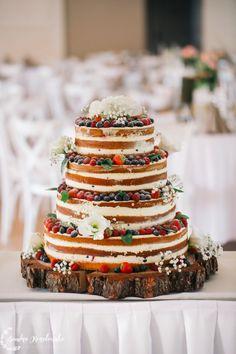 tort weselny w stylu rustykalnym - cudo