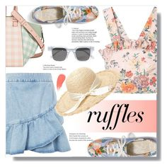 """""""What a Frill: Ruffles"""" by yoo-q ❤ liked on Polyvore featuring Rebecca Taylor, Topshop, Loewe, Chimi, Burberry, ruffles, contestentry and RuffLyfe"""