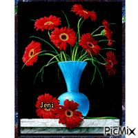 Flower in the vase Random Gif, Animation, Vase, Flowers, Painting, Florals, Painting Art, Flower Vases, Paintings
