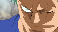 Roronoa Zoro, smiling, gif, funny, creepy; One Piece