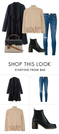 """Untitled #351"" by ema-jones ❤ liked on Polyvore featuring Frame, Boutique Moschino, Miu Miu and Gucci"