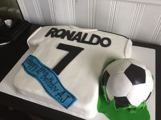 Soccer jersey cake Ronaldo cake