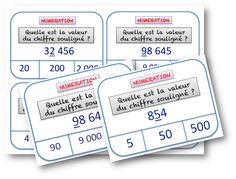 cartes a taches numeration French Worksheets, Cycle 2, Educational Activities, Special Education, Classroom Management, Teaching, School, Attention, Afin