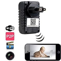EOVAS P2p Wifi Spy Camera Adapter Hidden Adapter Camera Mini Camcorder Video Recorder Cam Security  Surveillance * You can get additional details at the image link.Note:It is affiliate link to Amazon.