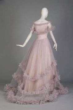 Wedding Gown, Christian Dior, ca. 1955, French, silk tulle and taffeta; via Chicago History Museum