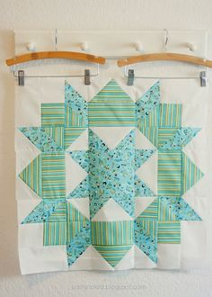 Swoon quilt block. I'm digging the orientation of the stripes fabric