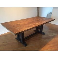 Image of Arhaus Anton Farm Table in Distressed Oak