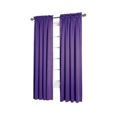 Sun Zero Seymour Room Darkening Pole Top Curtain Panel (4.818 KWD) ❤ liked on Polyvore featuring home, home decor, window treatments, curtains, purple, rod pocket drapery panels, purple valance, rod pocket draperies, target curtain panels and purple curtain panels