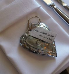 Cute decoration as a wedding favour