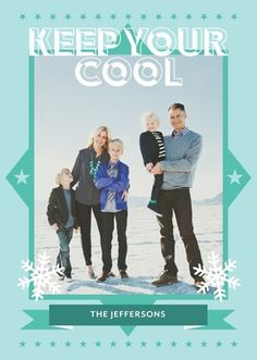 Show your coolness with this Rebecca Minkoff for Tiny Prints holiday card. #TinyPrintsCheer