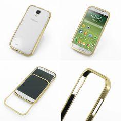 PDair Metal Bumper Frame for Samsung Galaxy S4 SIV GT-I9500 (Gold)