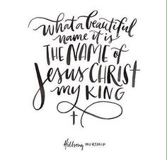 Good Day, Beautiful People! My new favourite song: What a Beautiful Name by Hillsong (new album) You were the Word at the beginningOne With God the Lord Most High Your hidden glory in creation Now …