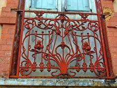detalhe gradeado de janela - Belém Pa Brasil