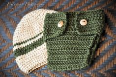 DIAPER COVER and HAT set  Infant  Baby Boy  by Babymommaboutique, $30.00