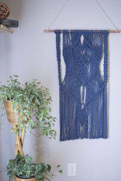 Macrame Wall Hanging: Blue & Copper