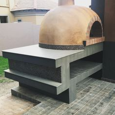 Pizza oven I designed and painted . Used Neolith slab on top . #pizzaoven #pizza