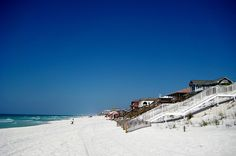11 Stunning Florida Towns You Need To Visit  Santa Rosa Beach is all white sugar sand and nestled along a 26-mile stretch of Florida's Emerald Coast. I