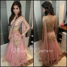 Blush Crush lehenga by MischB Couture, indian lehenga, indian couture
