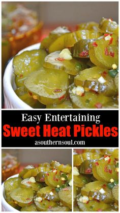 Sweet heat pickles made with dill, herbs and hot peppers are great for snacking, on burgers, dogs and perfect for game day. Pickled Sweet Peppers, Stuffed Sweet Peppers, Sweet Pickles, Canning Recipes, Sweet And Spicy, The Best, Healthy Recipes, Tuna Recipes, Healthy Food