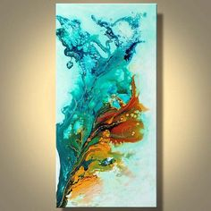 Original Abstract Fluid Painting Gold and by ModernArtbyJuliaBars, $300.00