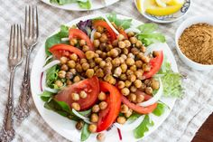 Schwarma-Spiced Chickpea Salad by Parsley In My Teeth #vegan