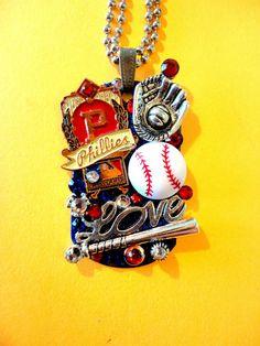 Philadelphia Phillies Dog Tag Pendant Number 982 by BradosBling, $39.99