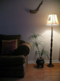 Tall wood lamp for the living room corner