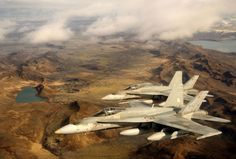 iceland military forces | CF-18 jets fly over Iceland during Operation Ignition 2013. Credit ...