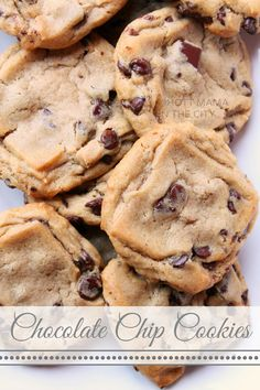 Is Santa coming for cookies and milk? Leave him Delicious Homemade Chocolate Chip Cookies #Recipe
