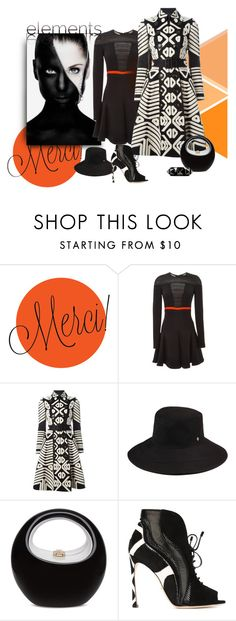 """Lady Has the Angles"" by michelletheaflack ❤ liked on Polyvore featuring J. Mendel, Burberry, Helen Kaminski, Sergio Rossi, Valentino and trenchcoat"