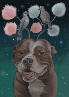 Two Turtle Doves by Nicole Bruckman Dog Milk, Turtle Dove, Gallery Website, Twelve Days Of Christmas, Freelance Illustrator, Nocturne, Rescue Dogs, Animal Kingdom, Creatures