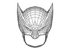 Marvel Comics - Life Size Wolverine Helmet for Cosplay Free Papercraft Download…