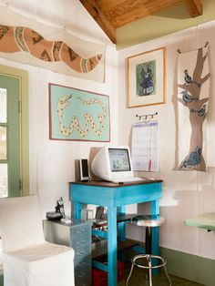 A Backyard Garage Becomes an Artist's Studio >> http://www.diynetwork.com/experts-and-hosts/a-backyard-garage-becomes-an-artists-studio/pictures/index.html?soc=pinterest