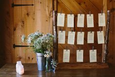 #diy #rustic #wedding table assignments   courtesy of Zac Wolf Photography