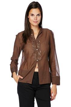 Vendita Nitya / 25789 / Maglie e camicie / Camicie a maniche lunghe / Camicia Cioccolato
