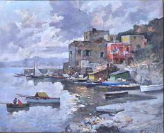 Giordano Felice (Napoli 1880 - Capri 1964) Capri olio su tela, cm 48x60