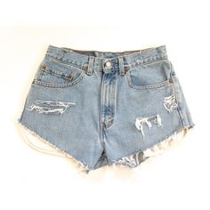 High Waisted Levi's Cutoff Shorts Size 30 Light Denim High Waisted... (€18) ❤ liked on Polyvore featuring shorts, bottoms, denim shorts, x, silver, women's clothing, cut off jean shorts, denim cut-off shorts, ripped denim shorts and high waisted shorts