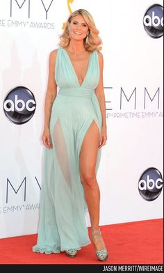 Heidi Klum (with a slit only a supermodel can wear) #Emmys