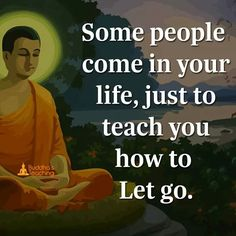 Some people come into your life to teach you how to let go.
