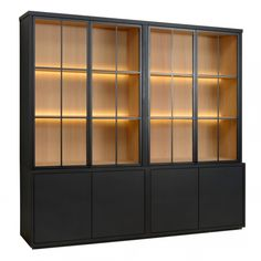 Charrell - CABINET MEZZO 4 PARTS 240 ALL GLASS - 240 X 50 - H 225 CM (image 3) Built Ins, Nook, Art For Kids, Dining Room, Shelves, Contemporary, Cabinet, Cool Stuff, Wall Units