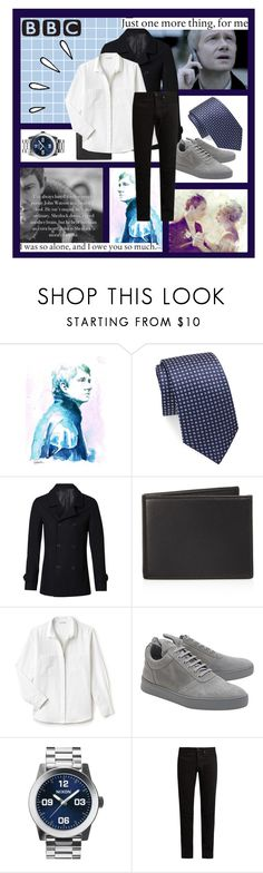 """""""""""Don't…be…dead."""" // John Watson // BBC Sherlock"""" by smokeybill ❤ liked on Polyvore featuring CO, Saks Fifth Avenue, Witchery, The Men's Store, Lacoste, Filling Pieces, Nixon, KURO, Old Navy and men's fashion"""