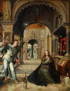 Бернарт ван Орлей (1491\1492 - 1541)  Благовещение.