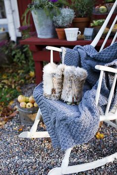 Furry boots, comfy chair - grab a book!