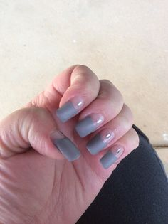 The silk wrap applied to the nails nail art pinterest silk my winter nails matt grey negative space with a bit of bling solutioingenieria Image collections