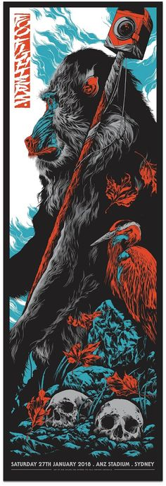 2018 Foo Fighters - Sydney Silkscreen Concert Poster by Ken Taylor Rock Posters, Band Posters, Music Painting, Music Artwork, Foo Fighters Poster, Cool Poster Designs, Ken Taylor, Music Drawings, Festival Posters