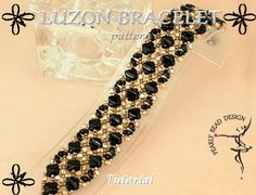LUZON BRACELET with Silky beads pattern di PearlyBeadDesign