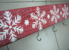 Snowflake Stocking Holder Christmas Stocking by ForesteDiOro