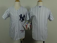 8bfb77df064a4 Youth MLB New York Yankees  Blank Jersey White Blank White